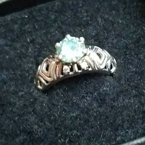 Jewelry - Beautiful Moissanite Stering Silver Ring Size 7